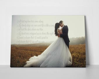 Wedding Song Personalized Canvas, Gallery Wrap Canvas, Customized Canvas, Wedding Gift, Anniversary Gift