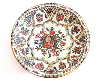 Vintage Tin Bowl Daher Floral Decorated Ware Retro Shabby Chic