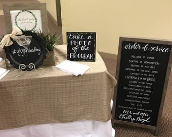 Wedding Signage Package