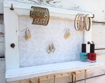 Mounted Jewelry Organizer, Wall Organizer, Jewelry Display
