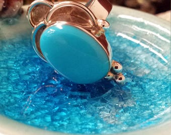 Sterling silver turquoise size 5 native American ring