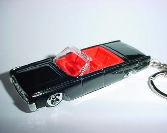 3D 1964 Lincoln Continental custom keychain by Brian Thornton keyring key chain finished in black trim metal body 64