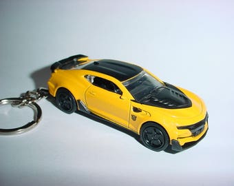 3D Bumble Bee 2016 Chevrolet Camaro SS custom keychain by Brian Thornton keyring key chain finished in Yellow/Sunburst color trim metal body