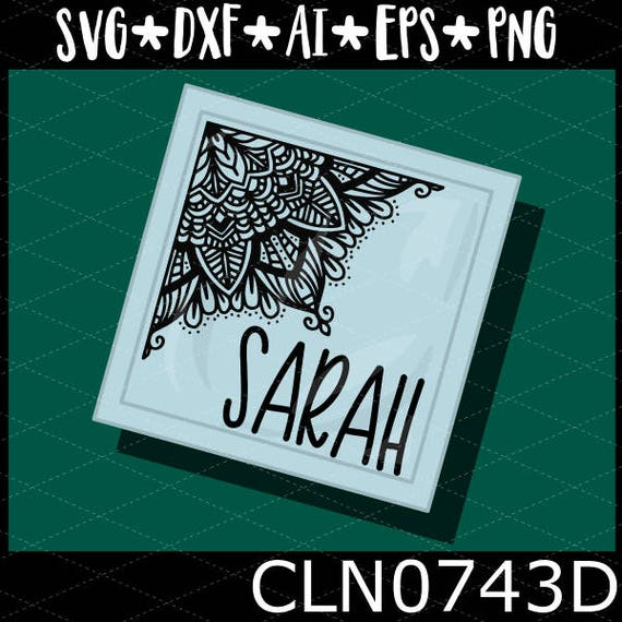 CLN0734D Corner Mandala Hand Drawn Intricate Boho Sign SVG DXF Ai Eps PNG Vector Instant Download COmmercial Cut File Cricut Silhouette