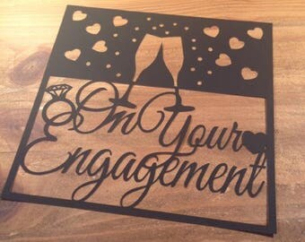 On Your Engagement  Paper Cutting Template - Commercial Use