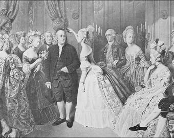 Poster, Many Sizes Available; Benjamin Franklin At The Court Of France