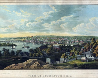 Poster, Many Sizes Available; Birdseye View Map Of Georgetown, Washington D.C. 1855
