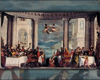 Poster, Many Sizes Available; Feast In The House Of Simon The Pharisee By Paolo Veronese