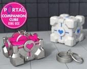 Portal ® Companion Cube Ring Box - proposal ring box, engagement ring box, ring case, wedding, marriage, valve, portal, geeky, geek, gamer