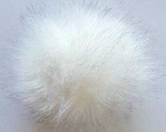 Pompom faux soft faux fur pom pom for hats  handbag for keychain large fluffy faux fur pompom for purse pom poms for crafts
