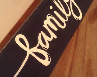 Distressed Wooden Family Sign
