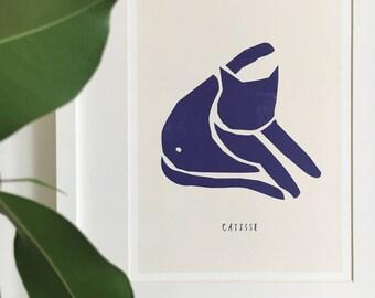Catisse 'Blue Cat' Print