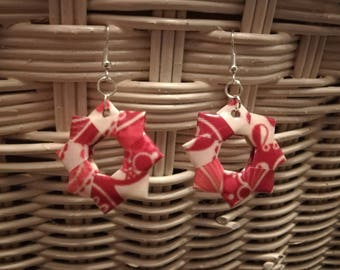 Boucles d'oreilles en Origami
