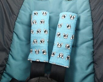 Double gauze stroller strap covers, baby gift, car seat strap covers, strap pads