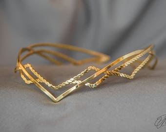 Fairy Elven crown - Silver Bridal Diadem - Celtic Circlet - Headdress Circlet - Jewelry Diadem - Elven Bridal Tiara – Tolkien lotr - Dirven