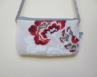 Red flower clutch spring purse - bag - shoulder