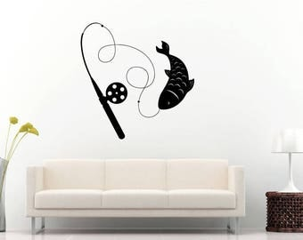 Fishing Pole Decal Etsy