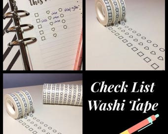 45% OFF 4th Of July Checklist, Washi Tape, Skinny 5mm, Circles, Hearts and Squares