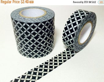 30% OFF ENTIRE STORE Geometric Black and White, Washi Tape