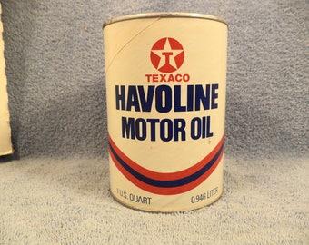 Texaco Havoline 1 Quart Motor Oil Can