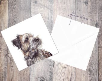 Border Terrier Greeting Card - Design 1