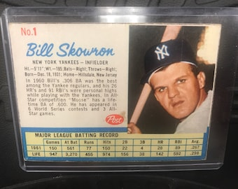 1962 Post Bill Skowron Trading Card #1