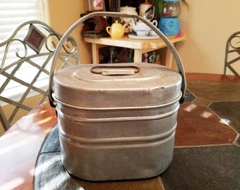 Vintage Coal Miner's stacking lunch bucket