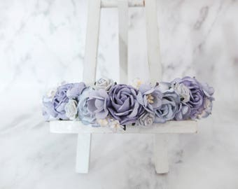 Lavender blue flower crown - wedding hair accessories - head wreath - headpiece - garland -woodland
