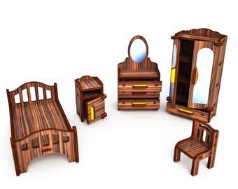 "Color set ""Bedroom"" (dark oak)"