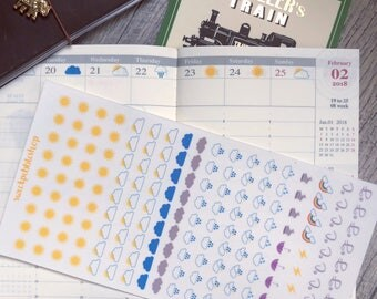 Weather Stickers for Traveler's Notebook