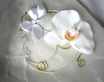 Porte alliances Félia orchidée blanc