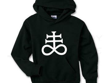 Leviathan Cross Satanic Hoodie
