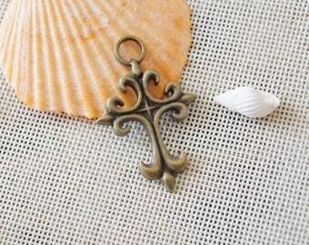 Cross charm pendant,32x50mm Pendant, Antique Bronze Supplies,DIY Supplies