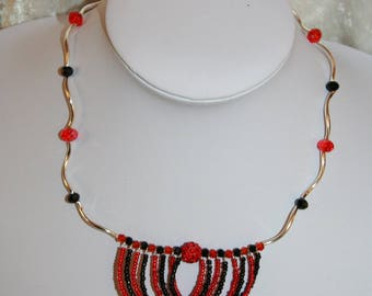 Red and black necklace