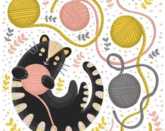 Cat - wall art - print