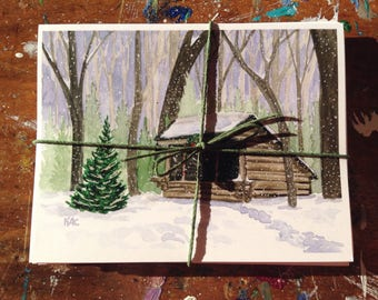 Appalachian Trail Christmas Cards - Hiker Holiday Cards - Set of 8