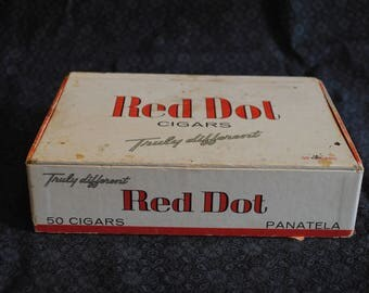 Red Dot Panatela Cigars Box
