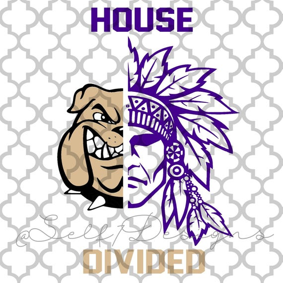 House Divided Bulldogs Indians Football Svg Png Dxf