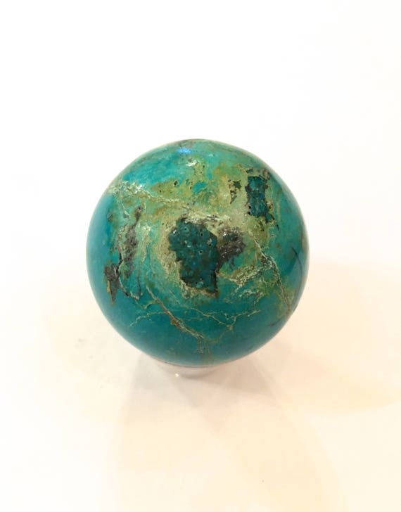 CHRYSOCOLLA Sphere// Crystal Sphere// Healing Gemstone// Crystal Ball// Gemstone Sphere// Home Decor// Healing Tools// Chrysocolla