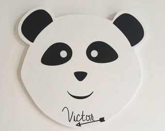 Black and white Panda customizable to the wall