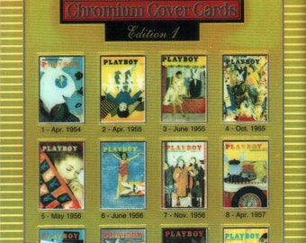 MATURE - Playboy Trading Card Chromium Cover Cards - #25 Checklist 1