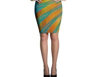 Parrotfish Fin detail Pencil Skirt