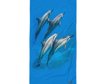 Dolphin Blue Towel
