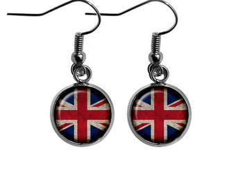 United Kingdom UK Commonwealth Union Jack Flag Earrings
