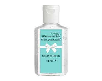 Purell hand sanitizer labels 2 oz. size bottle - Bridal Shower Labels - Hand Sanitizer Labels - Bridal Shower Decor - Breakfast at Tiffanies