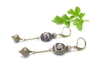 Earrings Bohemians / ° \ Œil Lavender / °.
