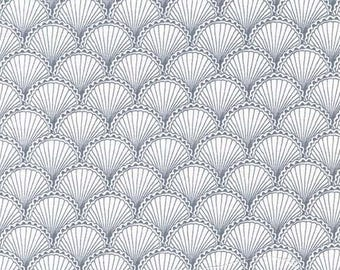 Sealife by Michael Miller - Scallops Gray - Cotton Woven Fabric