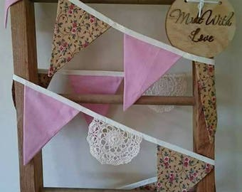 Floral vintage inspired doily bunting