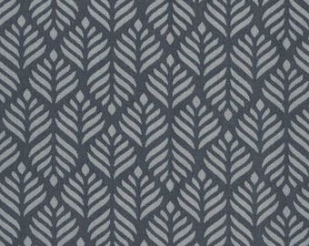 Au maison oilcloth Trigo dusty blue dark blue coated cotton