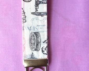 Sewing Print Key Fob